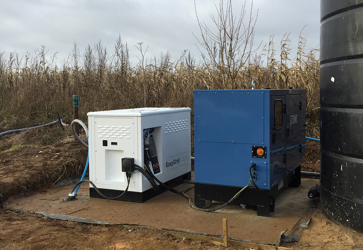 off grid power for busy suffolk farm energy solutions system easygrid 10000 a 8kw ground mounted solar array and 22 kva sdmo generator
